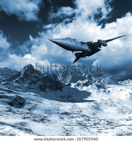 Aerospace vehicle - stock photo