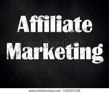 affiliate marketing black chalk board - stock photo
