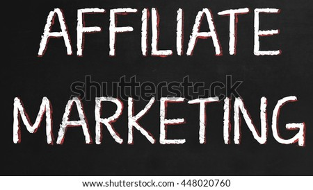 Affiliate Marketing - Concept on black Chalkboard