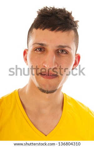 Afghan young man with yellow shirt