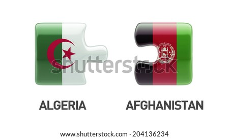 Afghanistan  Algeria High Resolution Puzzle Concept