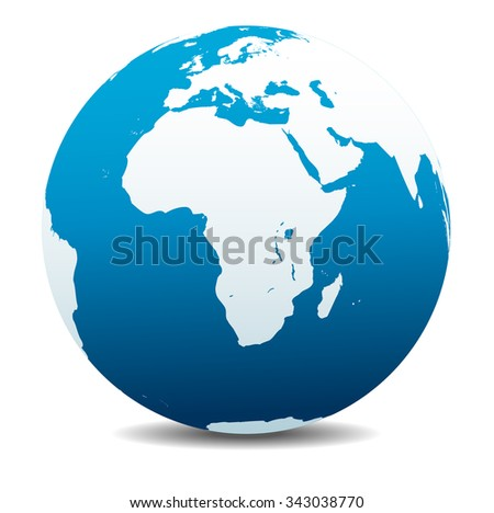 Africa, Arabia Global World - Raster Version - stock photo