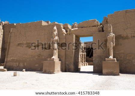 Africa, Egypt, Luxor, Karnak temple - stock photo