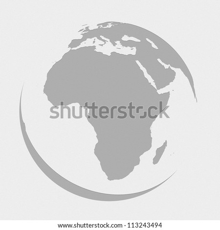 africa globe planet earth map - stock photo