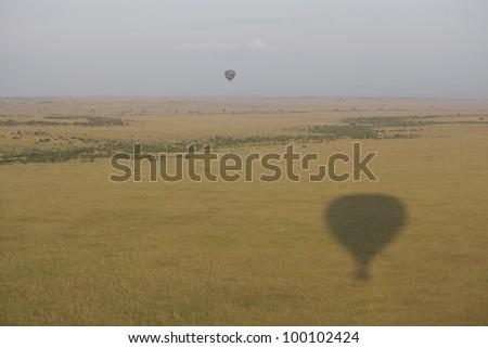 africa, masai mara/from airship/ - stock photo