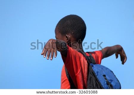 Africa.Mozambique, happy african children - stock photo