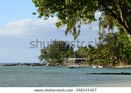 Africa, the picturesque area of La Pointe Aux Canonniers in Mauritius