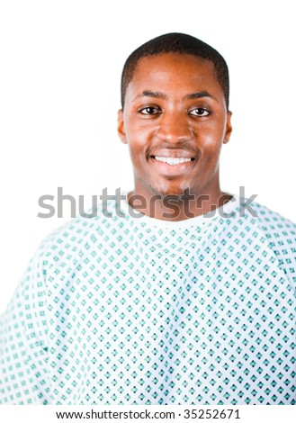 African america patient in a hospital - stock photo