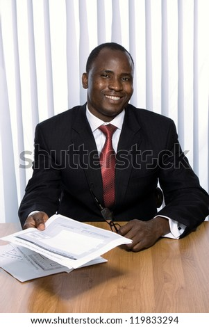 African americam business man - stock photo