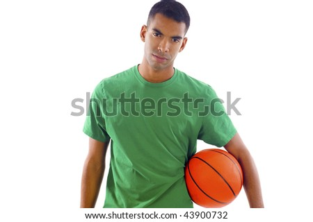 African American Basketball Player - stock photo