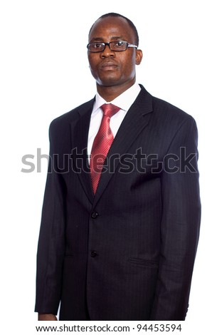 African American businessman , isolated on white background