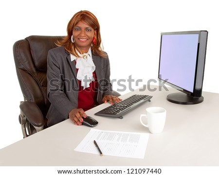 African American Businesswoman - stock photo