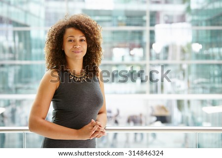 African American businesswoman portrait, waist up