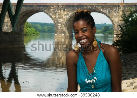 African American feeling good - stock photo