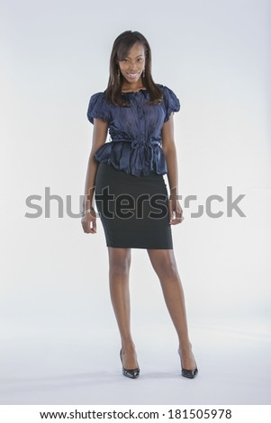 African-American Female Model Fashion - stock photo