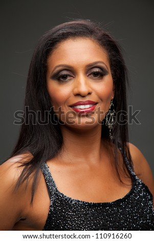 African American Female Model Portrait Low Key