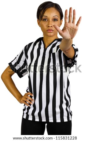 African American Female Referee - stock photo