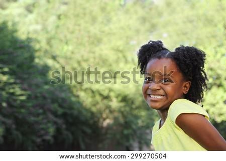 African American Little Girl  - stock photo
