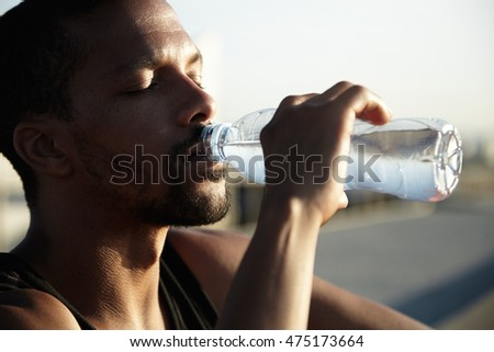 Drinking Ice Cold Water While Running