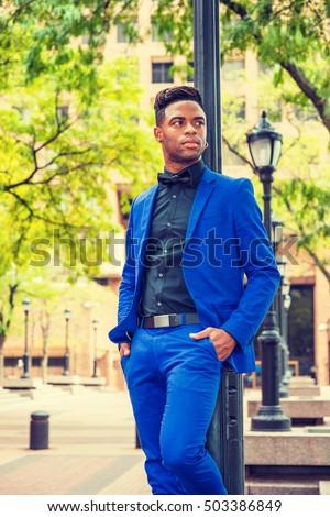 African American Man Fashion New York Stock Photo 503386849 ...