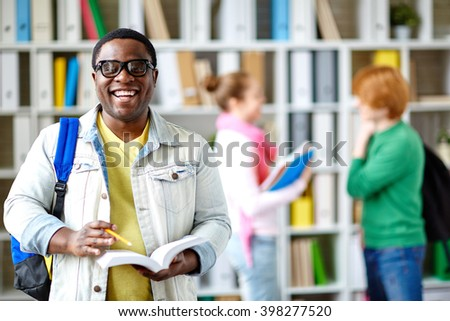 African-american student - stock photo
