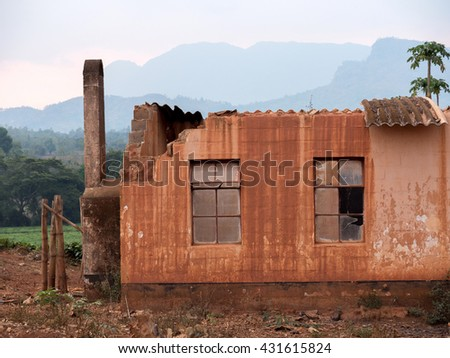 African architecture in Malawi  - stock photo