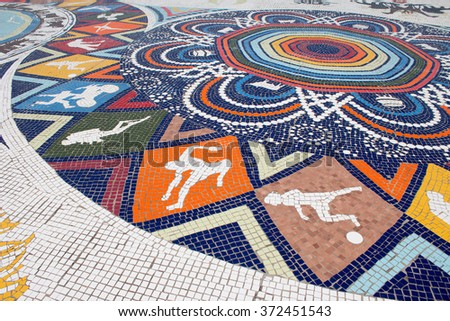 African art colorful pavement