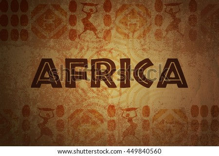 African Background - stock photo