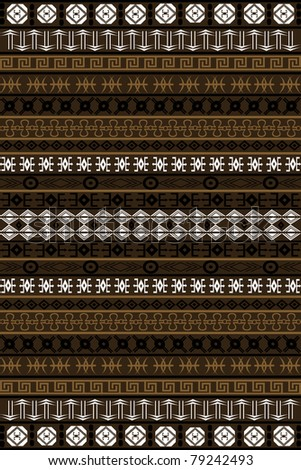 African background with brown motifs