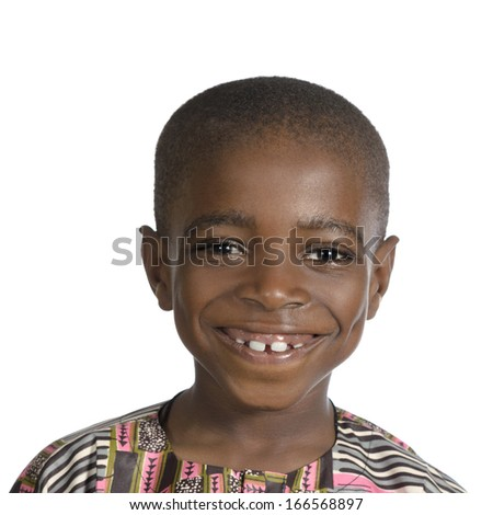 African Boy Portrait, Studio Shot