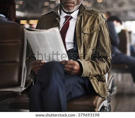 African Business Concentration Reading Concept - stock photo