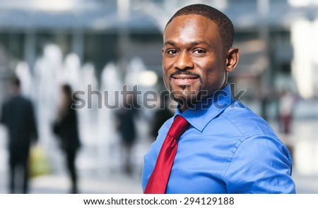 African businessman outdoor - stock photo
