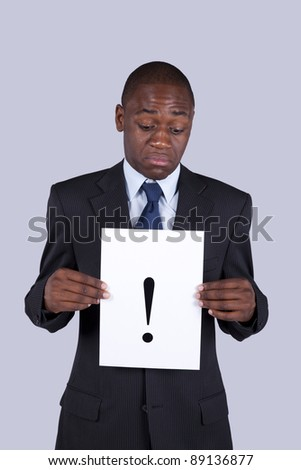 African businessman with a problem - stock photo