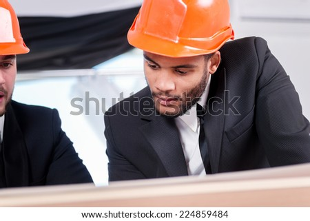Successful Architects starting business meeting three successful business stock photo