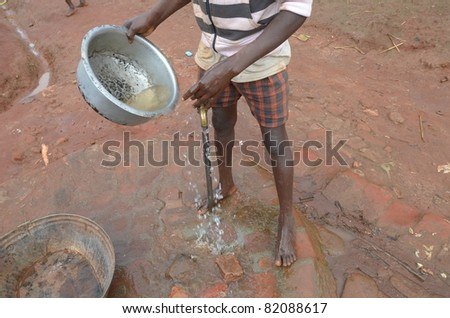 african child - stock photo