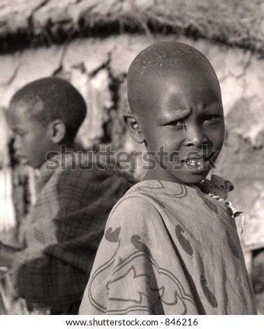 African children - stock photo