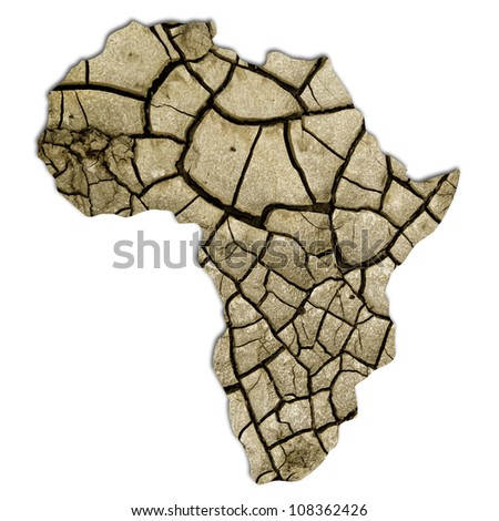 African continent, desertification. With clipping path.
