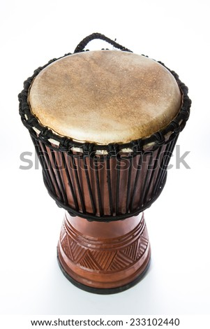 african drum - stock photo