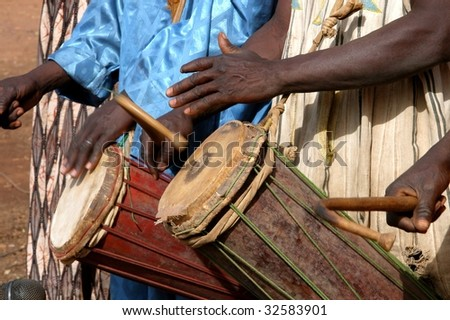 African drummers - stock photo