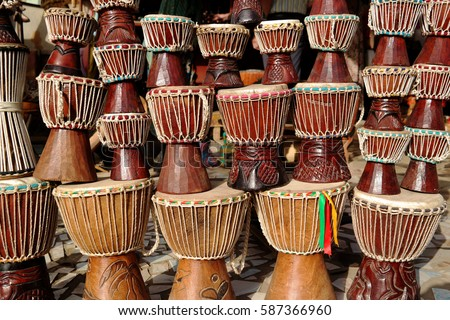African Drums Or Djembe For Sale The Gambia West Africa