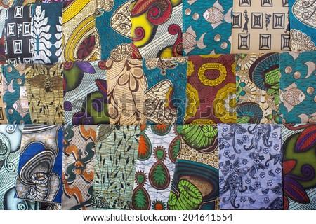 African fabrics   - stock photo