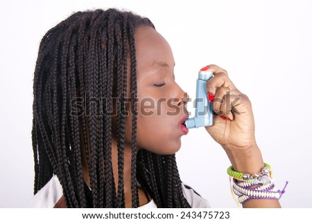 african girl asthmatic