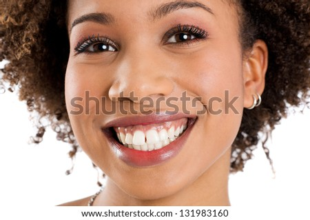 African Girl Smiling - stock photo