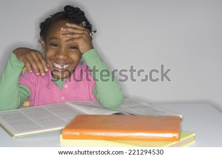 African girl studying - stock photo