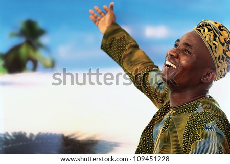 African man - stock photo