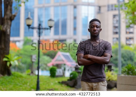 African man outdoors