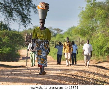 African people - stock photo