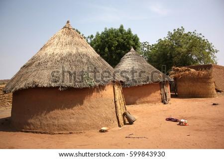 African Hut Stock Imag...