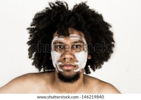 African warrior - stock photo
