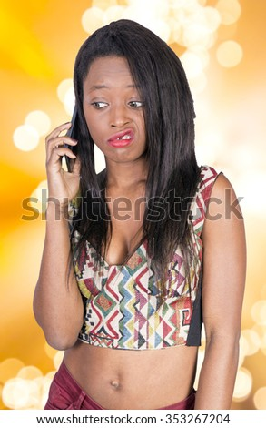 African woman with a phone